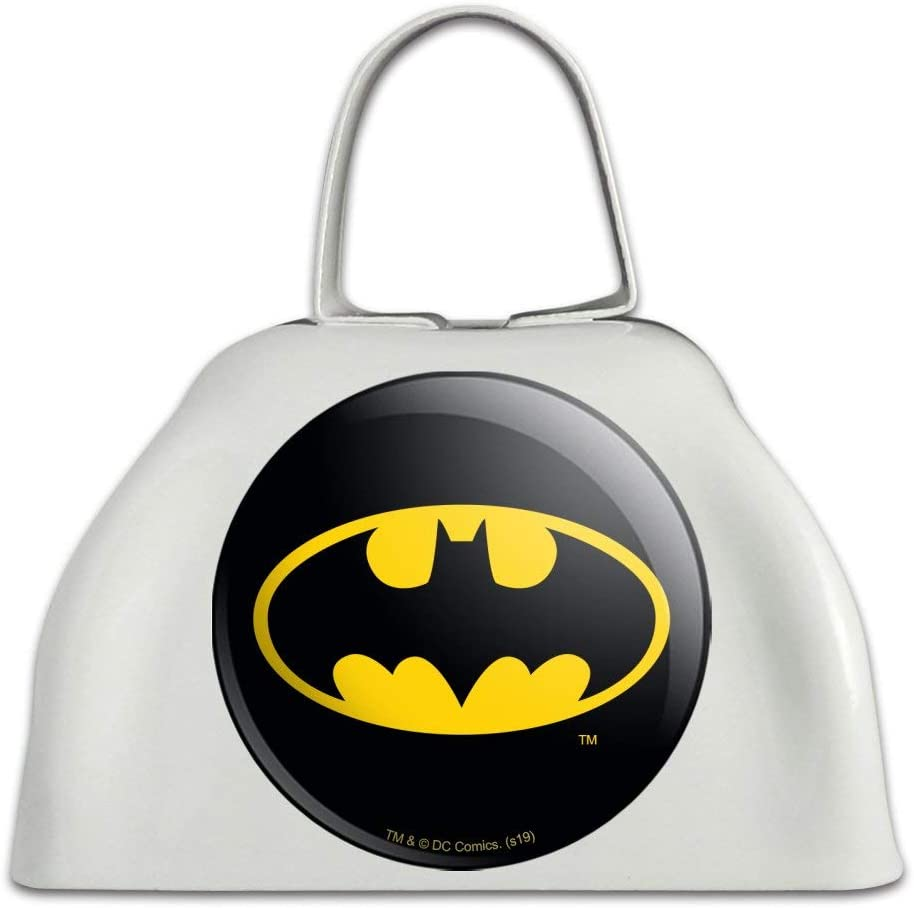 It is very Super Special SALE held popular Batman Classic Bat Shield Logo White Metal Inst Bell Cowbell Cow