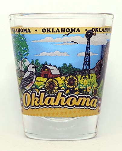 Oklahoma State Wraparound Shot Glass
