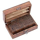 Estone 70pcs/set Wooden Box multipurpose Number Alphabet Letter Wood Rubber Stamp New...