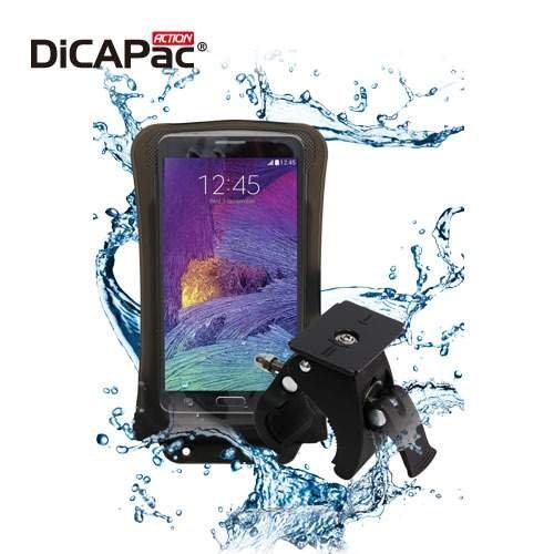 DiCAPac Action mobiele telefoon fietshouder/stuurwielhouder + telefoonhoes waterdicht - telefoonhouder is GoPro-comp, Meizu Blue Charm, m2, M3, MX2, MX3