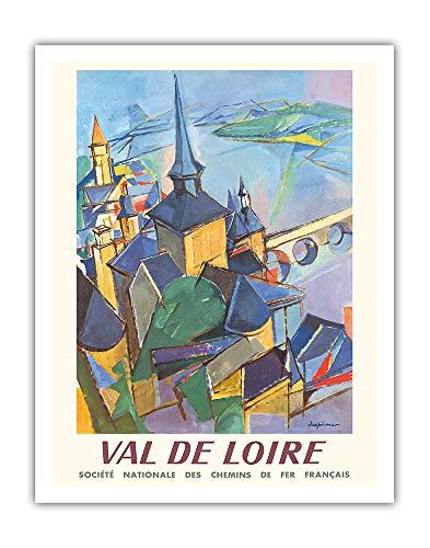 Val de Loire - SNCF (Chemins de fer nationaux français) - Affiche ferroviaire de Jacques Ceria Despierre c.1963 - Impression d'Art 28 x 36 cm