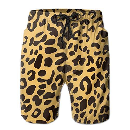 AMRANDOM Colorful Leopard Print Lightweight Boardshorts Swim Trunks Casual Tropical Running Soccer Board Shorts for Men Teens Boys