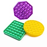 Bubble Poppers 3pk Push Pop n Play Fidget Toy Squeeze Bubble Wrap Stress Relief Autism Anti- Anxiety Sensory Toys for Kids Octagon Figets