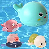 sigando Baby Badewannen Badespielzeug,Delfin Spray Wasserspielzeug, Baby Spielzeug ab 6 Monate