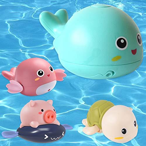 sigando Juguetes de baño para bebés, juguetes de baño en espray de delfín para niños a partir de 6 meses