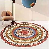 1.6CM超厚絨毯 人気のラグマット 円形 ハイエンド カーペット ラグ おしゃれ 洗える 夏用 じゅうたん ホットカーペット らぐ こたつ 滑り止め 絨毯 こたつしきマットRound carpet JDHDH93 120*120CM 0.7畳