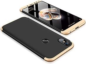 MYLB Xiaomi Redmi Note 5 Case/Redmi Note 5 Pro Case,360 Degree Full Body Coverage Protection [3 in 1] Anti-Scratch Detachable PC Hard Cover Protective Case for Redmi Note 5 /Note 5 Pro (Black+Gold)