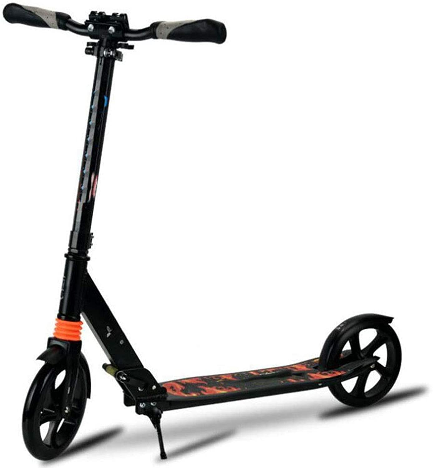 Two-Wheeled Scooter,Adult Adolescent Easy Folding Kicker, Durable Double Shock-Absorbing City Scooter for 100kg