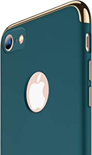 RANVOO iPhone 8 Case, Slim Fit Thin Hard Stylish Cover 3 in 1 Detachable Case, Dark Green [Clip-ON Series]