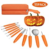 Veperain Halloween Pumpkin Carving Kit, 11 Pieces Professional Stainless Steel Pumpkin Carving Tools for...