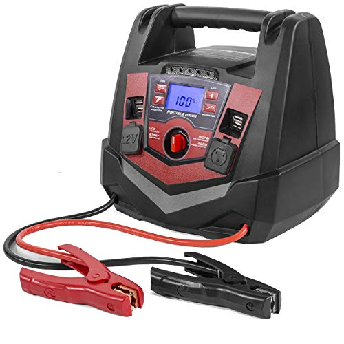 Review XtremepowerUS 1250 Peak Amp Jump Starter and Air Compressor with 12V Port and (4) USB Power P...