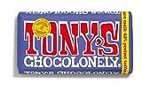 Barra de chocolate y pretzel oscuro   Tony's Chocolonely   Leche Oscura 42% Pretzel Toffee   Peso total 180 gramos