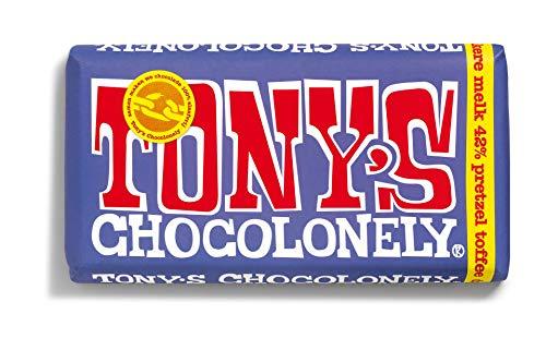 Barra de chocolate y pretzel oscuro | Tony