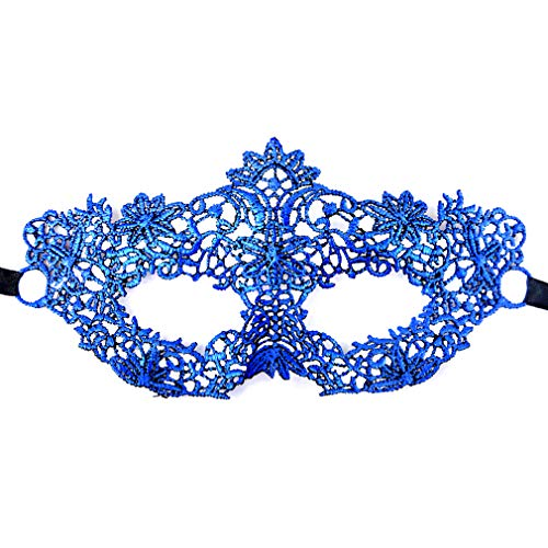 SEIKEA Blue Masquerade Lace Mask Sexy Flower