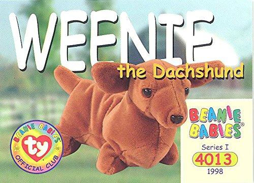 BBOC Cards TY Beanie Babies Series 1 Common - Weenie The Dachshund