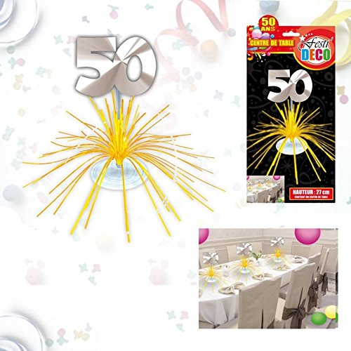 Centre de Table Anniversaire 50 ans