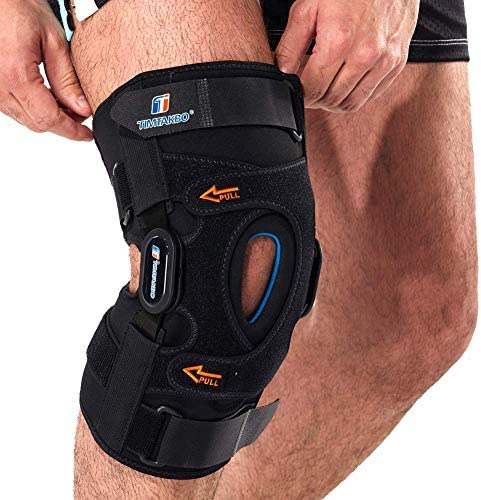 Hinged Knee Brace Gel Patella Support with Removable Dual Side Stabilizers Knee Support for product image