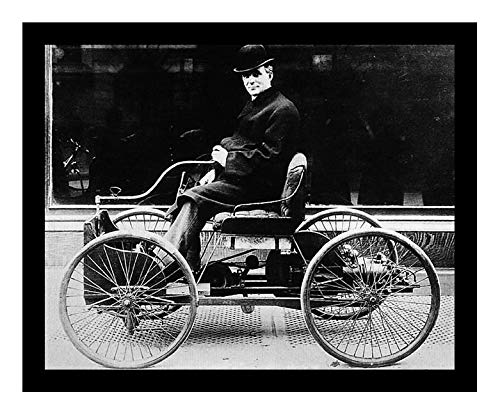 8 x 10 Photo Print 1896 Ford Motor Carriage Sv {Henry Ford Vintage Old Advertising Campaign Ads