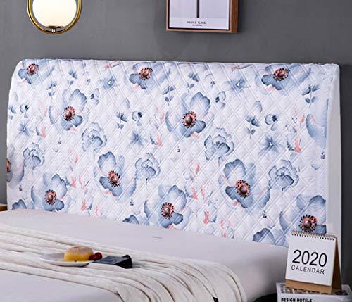 ZZX Cubierta Doble elástico Cabeza Cabeza/Cilindro Forro de Cubierta elástica Cama, Cubierta decoración de Polvo for el Dormitorio (Color : P, Size : 200CM)