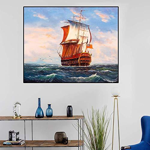 Canvas kunst olieverfschilderij eenvoudige kaars wanddecoratie kleurrijke poster foto moderne woondecoratie woonkamer kantoor cadeau