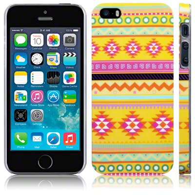 Call Candy Oh So Bright Messico Aztec-Cover per Apple iPhone 5s/5 SE, Colore: Giallo