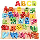 Wondertoys Wooden Alphabet Puzzle Board for Toddlers Girls...