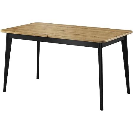 Selsey Table, Chêne Artisan, 80 x 76 x 140-180