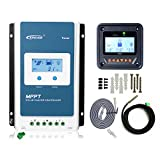 EPEVER MPPT Solar Charge Controller 30A 12v/24v Auto Tracer3210AN Remote Meter MT50 Set with LCD Display for Gel Sealed Flooded Lithium AGM Solar Battery Negative Grounded (30A+MT50+RTS)