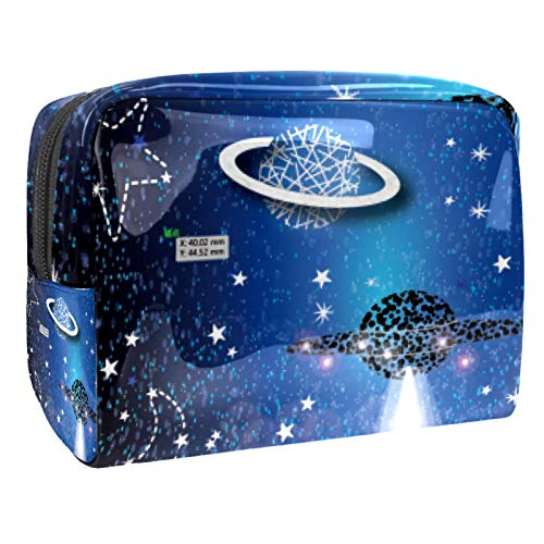 Portable Makeup Bag with Zipper Travel Toiletry Bag for Women Handy Storage Cosmetic Pouch Alien Flying Saucer