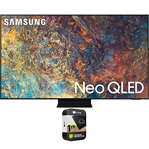 Samsung QN65QN90AAFXZA 65 Inch Neo QLED 4K Smart TV 2021 Bundle with Premium 1 Year Extended Protection Plan