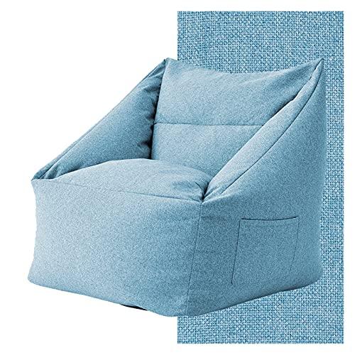WanXingY Bolsa de Frijoles Gigante de Gran tamaño Lazy Sofá extraíble y Lavable Tatami Muebles creativos Tela Impermeable Balcón Reclinador Creativo (Color : Azul)