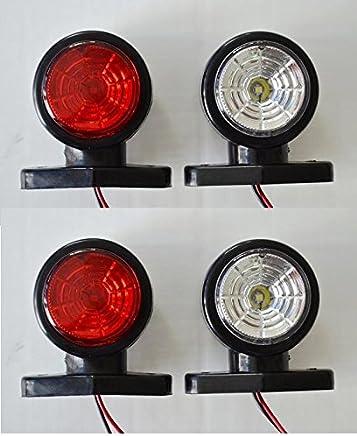 2/pieza LED Geogr/áfico Leuchten limitaci/ón Leuchten Posici/ón Leuchten 12//24/V color rojo