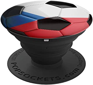 Czech Republic Flag Football Soccer Ball  PopSockets Grip and Stand for Phones and Tablets
