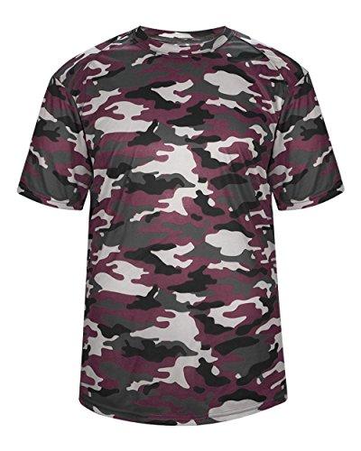 Badger Sport Adult 2XL Maroon Camo Moisture Wicking Jersey Uniform Shirt