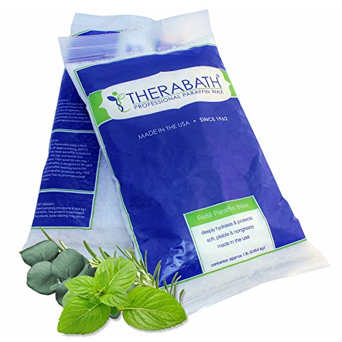 Therabath - 81587492 Paraffin Wax Refill - Use To Relieve Arthritis Pain and Stiff Muscles - Deeply Hydrates and Protects ΓÇô 24 1-lb Bags Eucalyptus Rosemary Mint