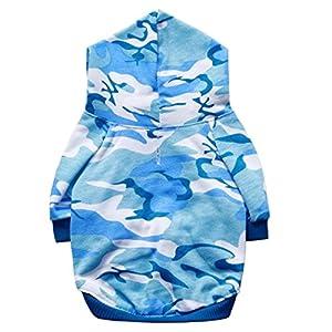 Chien chiot costume gilet mignon chic Camouflage à capuche automne hiver,habits chien,vêtements pour chiens