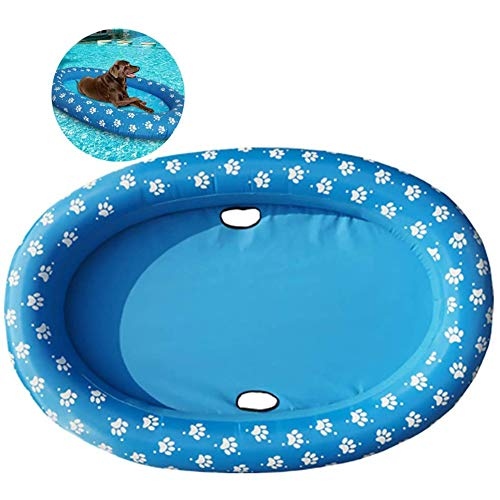 Cane Pool Float, Pet Acqua Giocattolo Piscina Galleggiante Piscina Galleggiante Fila Letto Gonfiabile Giocattolo della Spiaggia, Nuoto Doccia Balneazione per Gli Animali Domestici