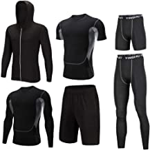Trainingskleidung für Herren Compression Langarmhemd Compression Enge Hose Compression Kurzarm T-Shirt Lose Shorts Compression Enge Shorts Herren Active Athletic Performance Set 6-er Packung Outwear f