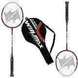 WIN.MAX Badmintonschläger Schläger Set 2 Aluminium Alloy 2 Player Inklusive