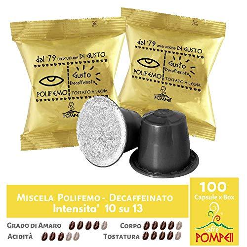 Caffè Pompeii - Capsule compatibili Nespresso (100 Capsule- Miscela Polifemo Dek)