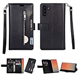Tom's Village Luxury Wallet Case for Samsung Galaxy Note 10 Coin Pocket ID/Credit