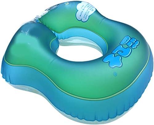 Nadar seguro bebé natación asiento de ayuda inflable, anillo de natación bebé, aprender a nadar inflable rojoondo, para Niños y niñas,verde