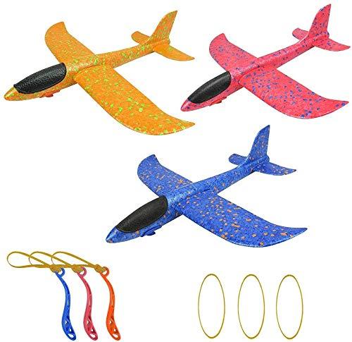 Hyde Fliegende Gleiter, 3 Stück Aerobatic Slingshot Flugzeug Segelflugzeug Leichtflugzeug Spielzeug für Kinder