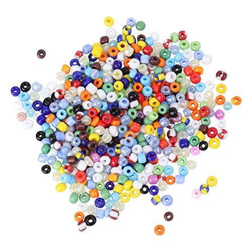 BESTOMZ 1350 unids 3 mm bricolaje Ronnd granos de cristal para la fabricación de joyería collar pulsera / fabricación de joyas (colores mezclados)