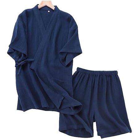 Traje de Pijama Kimono Estilo japonés Jinbei para Hombre ...
