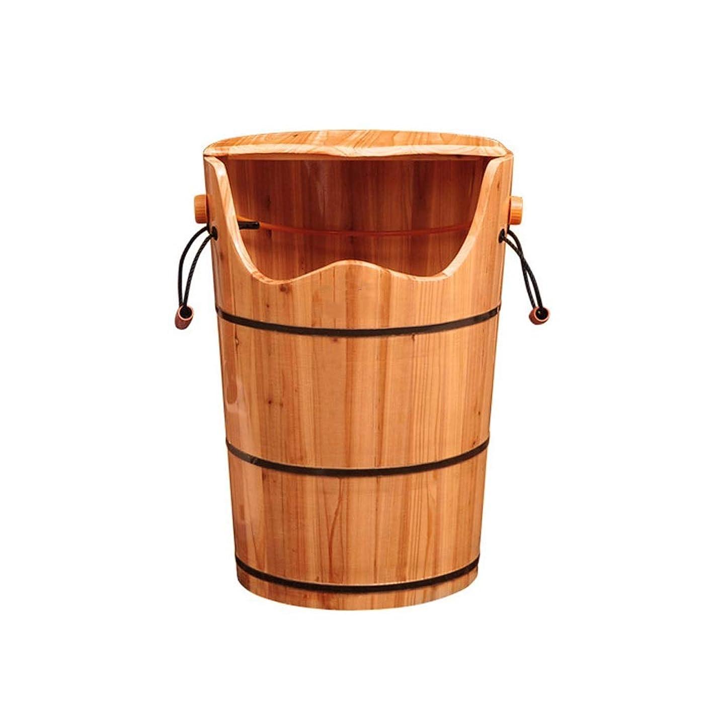 そのようなぜいたくエキサイティングWei Jun フットバスバレル、フットバスバレルフィートバレルニーハイディープバレル以上蒸し燻蒸バレルフットバスバレル木製足湯暖房ホームスウェット /-/ (Size : 60cm)