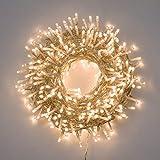 Catena di luci natale 500 led 25 mt serie luminosa natalizie per esterno interno albero cavo filo...