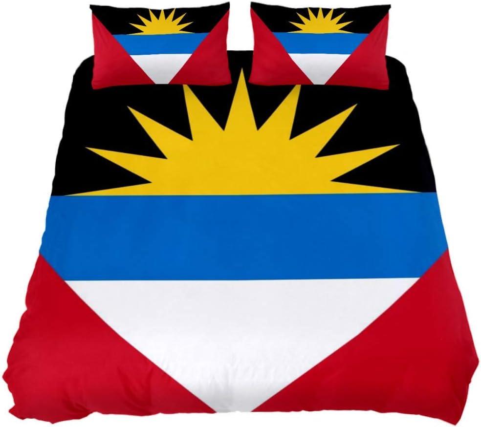 Antigua and Barbuda 品質保証 Flag 信用 3 Set Bedroom Bedding Piece Decoration