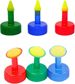 Voarge 6 sztuk buteleczek z tworzywa sztucznego, nakładka do podlewania roślin, do butelek o średnicy 28 mm, do butelek na...