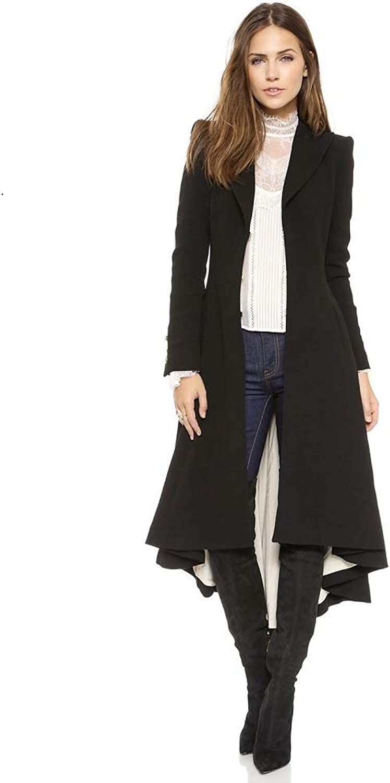 Women's Trench Coat Winter Jacket Lapel Jacket Warm Fashion
